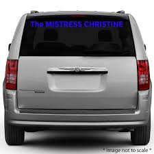 The Mistress Christine | StickerTitans.com | 470-585-2229 | Custom ... Product Anime Dragonball Dragonballz Goku Supersaiyan 4 Rear Car Decal Window Sticker Graduation Gift Just Married Window Decal 3 Personalized With Two Hearts 9 Best Hunting Decals For Trucks Images On Pinterest Vinyl Lovely Custom Canada Northstarpilatescom Auto Transparent Wall Elrado Windshield Banner Vehicle Graphics Allen Signs Customer Photo Stencils T Amazoncom Sassenach