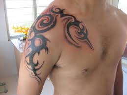 Badass Tribal Tattoos Design For Shoulder Plus Arm