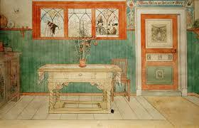 kunstdruck das eßzimmer carl larsson auf aquarell