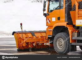 100 Truck Snowblower Snow Blower Truck Ready To Work Winter Time Snowing Stock Photo