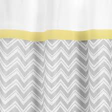 Sweet Jojo Chevron Curtains by Yellow And Grey Chevron Shower Curtain Home Design Ideas