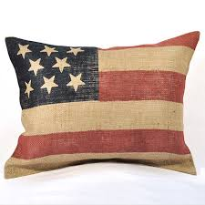 American Flag Burlap Pillow $65 pillows Pinterest