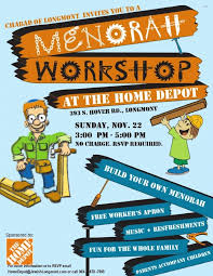 Menorah Workshop Home Depot Chabad Jewish Center of Longmont