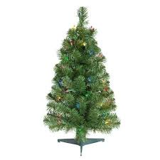 2ft Prelit Artificial Christmas Tree Alberta Spruce Multicolored Lights