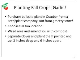 fall vegetable gardening ppt