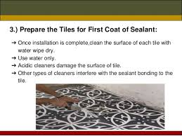 how to seal cement tile