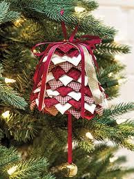 No Sew Folded Fabric Bell Ornament Pattern
