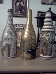 Decorative Wine Bottles Diy by Diy Christmas Rustic Old Wine Bottles Decor The Stuff I Made