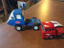 100 Tootsie Toy Fire Truck Blue Tonka Red Metal United Edge Real