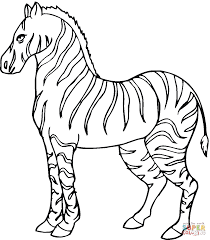 Zebras Coloring Pages