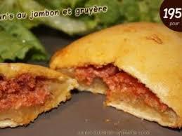 pate brisee au fromage buns américain au jambon et fromage 195 kcal par cuisine ophelie