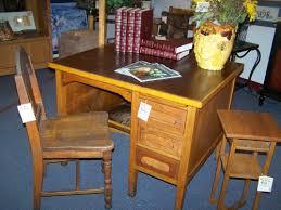 vintage teacher s desk solid oak cherry pickin s home