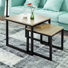 US $58.0 |SoBuy FBT42 N Modern Nesting Tables Set Of 2 Coffee Table Side  Table End Table-in Coffee Tables From Furniture On AliExpress Nesting Tables Set Of 2 Havsta Gray Josef Albers Tables 4 Pavilion Round Set Zib Gray Piece Oslo Retail 3 Modern Reflections In Blackgold Two Natural Pine And Grey Zoa Nesting Tables Set Of Lack Black White Contemporary Solid Wood Maitland Smith Faux Bamboo