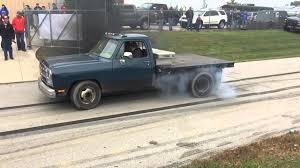 100 Truck Flatbed Dodge Diesel Burnout Slow Mo