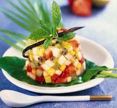 dessert aux fruits rapide vite fait bien fait le tartare de fruits exotiques un dessert