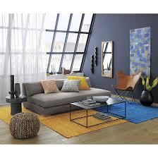 Cb2 Frost Sleeper Sofa by Piazza Storm Velvet Sofa In Sofas Cb2 Urban Industrial Loft
