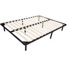 Amazon Queen Bed Frame by Amazon Com Polar Aurora 79 Inch 8 Leg Europa Wood Slat Metal