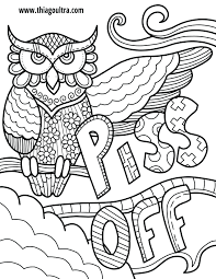 Colorama Coloring Book Owl Off Free Page Swearing Owls Ultra Secret Garden Finished Pdf Full