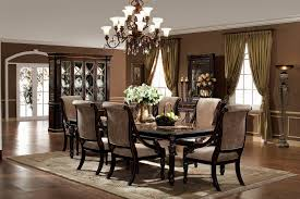 Beautiful Formal Dining Room Sets With Buffet And Ceiling Light For