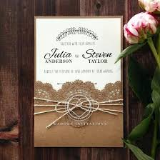 Rustic Wedding Invitation Country Lace Pocket Invite Ideas
