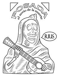 Click To See Printable Version Of Day The Dead Coloring Page