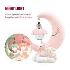 nachtlichter einhorn mond nacht licht harz kinderzimmer