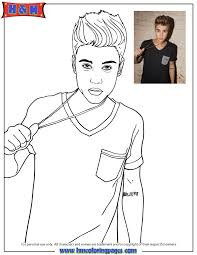 Free Printable Coloring Justin Bieber Pages 41 In Kids With