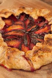 Flaky Pastry Dough And Fresh Black Plums Combine To Make A Delicious Rustic Dessert Thats