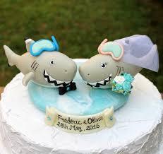Shark Wedding Cake Topper Customizable Beach Summer