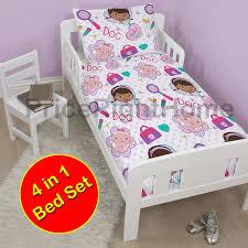 Doc Mcstuffins Toddler Bed Set by Disney U0026 Character 4 In 1 Toddler Bedding Bundles Duvet Pillow