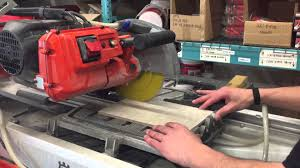 Husky Wet Tile Saw by Husqvarna Ts 70 Demonstration From Contractors Direct Youtube