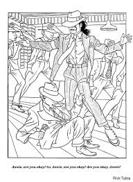 Michael Jackson Coloring Pages Free Printable