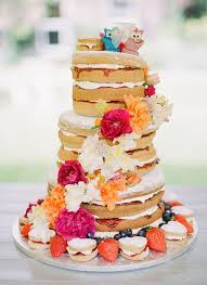 Naked Wedding Cakes A Great Concept For Rustic