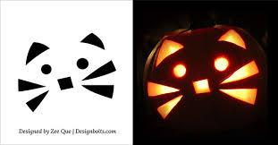 Cute Pumpkin Carving Ideas by 5 Easy Yet Simple Halloween Pumpkin Carving Patterns Stencils