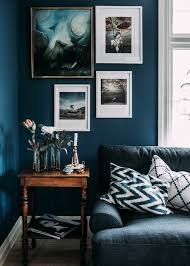 wall paint petrol living room white picture walls wooden