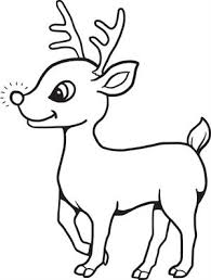 Free Printable Baby Reindeer Christmas Coloring Page For Kids