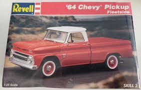 100 64 Chevy Truck Parts Vintage 1996 Revell 19 Fleetside Pickup Model Factory