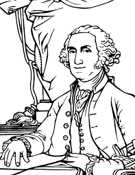 Bright And Modern George Washington Coloring Page Book