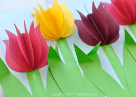 Your Paper Tulip Flower Craft Is Complete