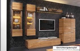 wohnwand wohnzimmer wohnzimmerwand asteiche eiche massiv natur geölt lanatura
