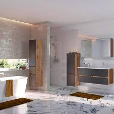 badezimmer set lourosa 03 in wotaneiche nb mit matt grau inkl led be
