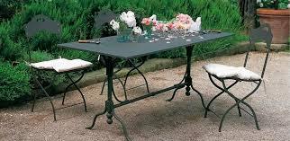 table exterieur metal mobilier de jardin en aluminium maison email