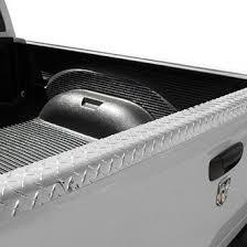 toyota tacoma truck bed rail caps polished diamond tread black
