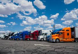 100 Truck Stop Inc Row Of American Trucks Parked At Truck Stop Planet Freight