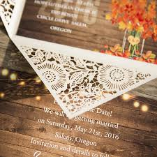 Rustic Stringlights Maple Leaf Laser Cut Wedding Invitations With Twines EWWS096 5