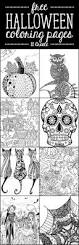 Scary Halloween Coloring Pages To Print by Free Halloween Coloring Pages U Create