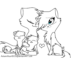 FREE WARRIOR CAT FAMILY LINEART By AutumnHeart803 On DeviantART