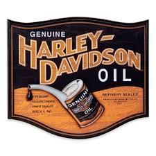 Harley DavidsonR Oil Can Pub Sign Wall Art