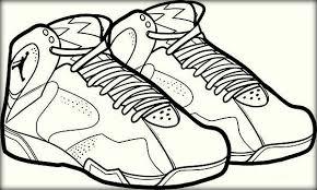 Craftsmanship Color Jordan Shoe Colouring Pages Two Basketball Printable Images