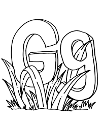 Letter G For Grass Coloring Pages